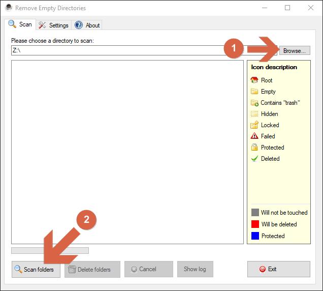 Program  Remove Empty Directories (RED), jak używać.